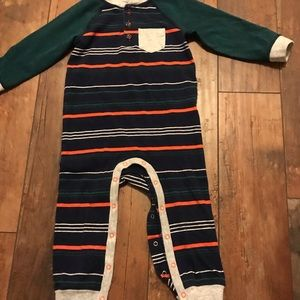 Baby boys' striped long sleeve romper